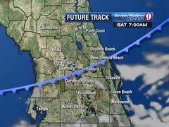 Next cold front moves in tomorrow