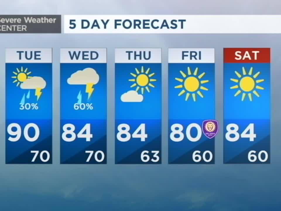 Orlando News Videos WFTV - 5 day forecast kansas city
