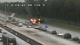Dump truck fire could delay Volusia County I-4 project already months…