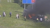 Off-duty firefighters pull victims out of fiery SUV on I-95 in Brevard County