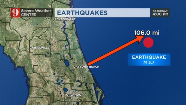 Earthquake Strikes 100 Miles Off Daytona Beach Shores Wftv