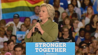 Hillary Clinton addresses supporters at Tampa rally