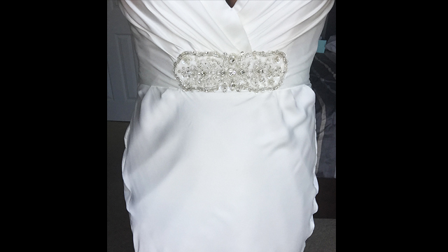 Bride says wedding dress botched by seamstress at orange for Wedding dress stores orange county