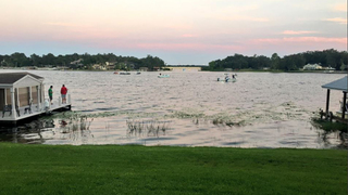 Search underway for man who fell off paddleboard in Lake Conway