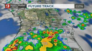 Storms taper, isolated rain still possible