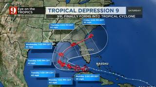 Tropical disturbance strengthens over warm Gulf waters, likely to become…