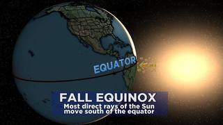Fall equinox on September 22