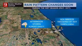Rain pattern changes soon