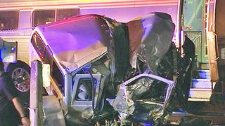 Pickup truck crashes into Amtrak train in Orange County