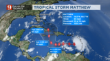 Tropical Storm Matthew likely to become Category 2 hurricane by the weekend