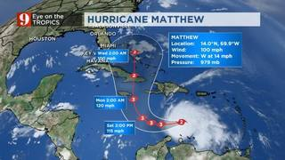 Hurricane Matthew Quickly Getting Stronger