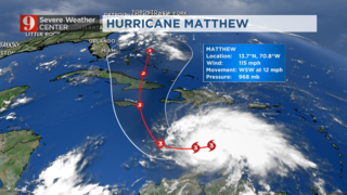Hurricane Matthew reaches major category; warnings issued