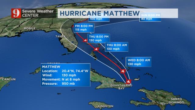 Hurricane Matthew Tuesday Timeline Wftv