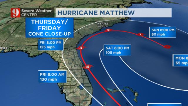 Hurricane Matthew Wednesday S Timeline Wftv