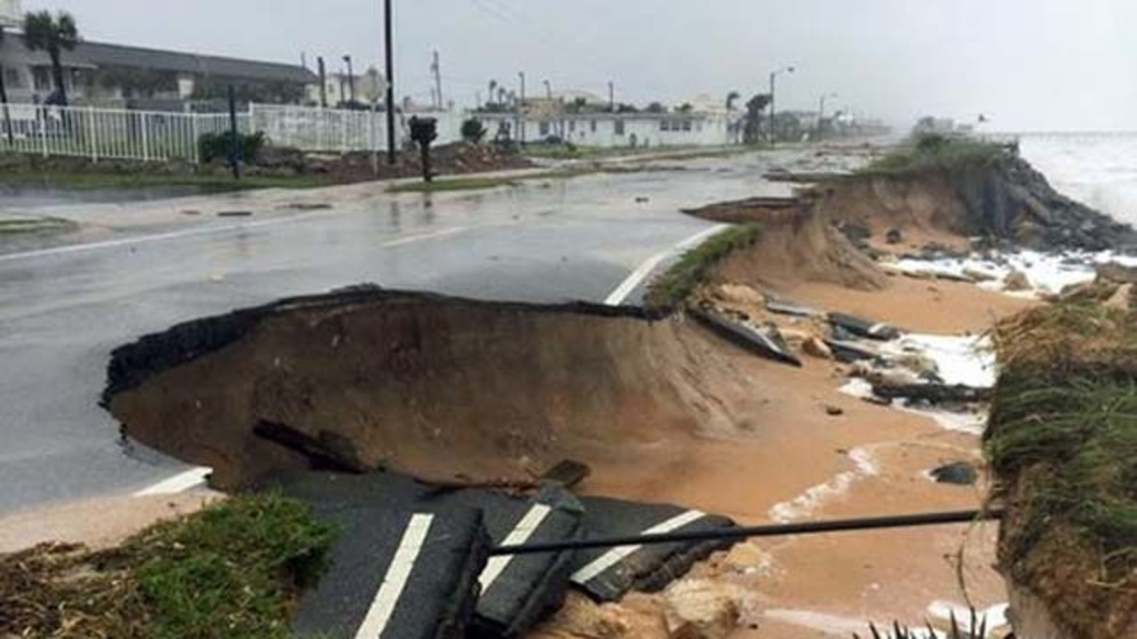A1a Coastal Byway Reopens In Flagler Beach After Hurricane Damage Repaired Wftv