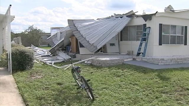 Hurricane Matthew Has Little Mercy On Port Orange Mobile