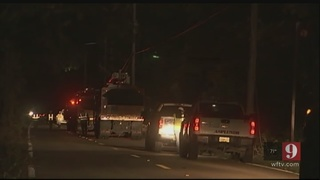 Crews working throughout the night to restore power