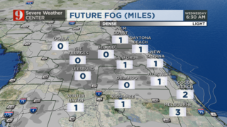 Rain ends, but fog could limit visibility tonight