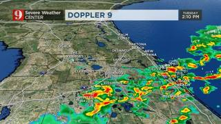 Showers and thunderstorms in Central Florida