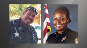 Orange County Senior Deputy Norm Lewis and Orlando Police Master Sgt. Debra Clayton