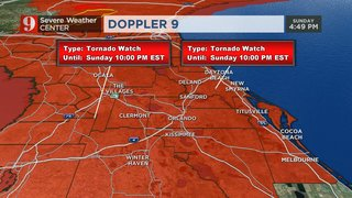 Storms exit as tornado watches expire in Central Florida