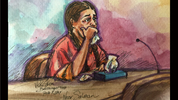 Noor Salman appeared in federal court Wednesday in California. Courtesy: Vicki Behringer