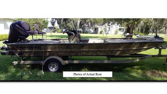 Thieves steal trailer motor even seats but leave the for Polk county motor vehicle registration