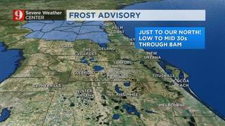 Quick chill with areas of frost