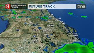 A few more showers develop tonight