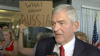 Protesters blast Congressman Dan Webster during Lake County meet-and-greet