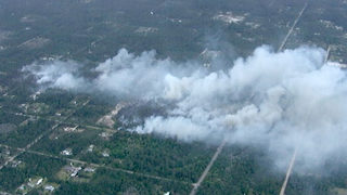 Dry, windy conditions fuel Flagler County brush fire