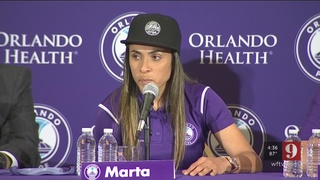 Brazilian super star, Marta joins the Orlando pride