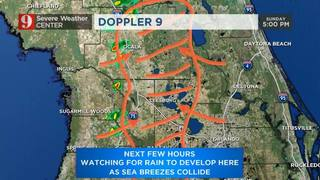 Comfortable temperatures, low humidity and high fire threat