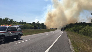 Fast-growing wildfire prompts partial closure of State Road 44 in DeLand