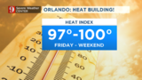 Extremely hot temperatures and increasing humidity in Central Florida
