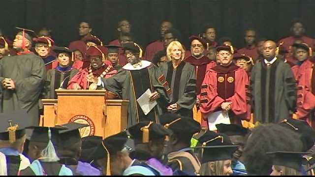 Students boo DeVos as she delivers commencement speech at historically black college