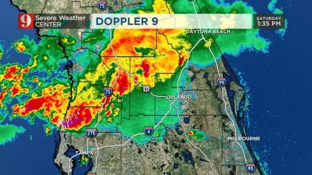 Storms Move Through Central Florida Bringing Lightning Wftv