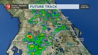 Scattered showers to develop during the afternoon drive