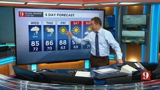 5 Day forecast with rain and heat May 23