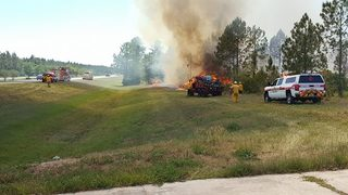 Firefighters battle small brush fire in Ormond Beach