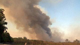 2,000-acre brush fire threatens 11 homes near Orange-Brevard county line