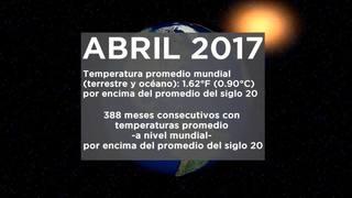 Abril cálido a nivel mundial y más anomalías en el mundo