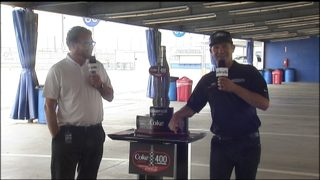 NASCAR driver Clint Bowyer talks about Coke Zero 400