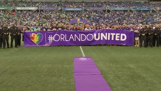 Orlando City Soccer helps after Pulse shooting