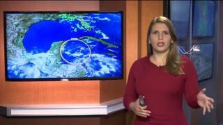 Vigilando la perturbación en camino al Golfo de México