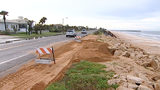 Dune washout shuts down section of A1A in Flagler Beach Friday