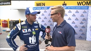 Channel 9 sports anchor Christian Bruey goes 1 on 1 with Dale Jr.