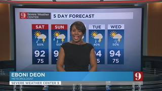 5 day forecast: Strong afternoon storms possible