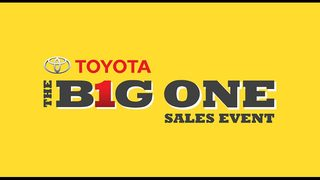 The Big One sales event is here at Toyota of Clermont!