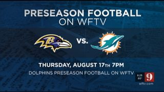 Watch Ravens vs Dolphins on Channel 9